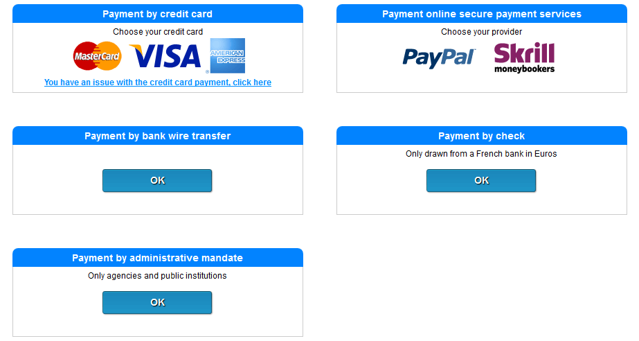 payment by bank wire